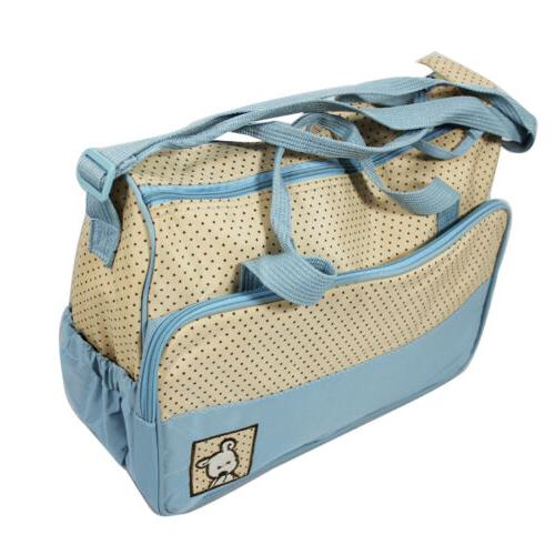5 Pcs Mother Handbag Multi-functional Baby Changing