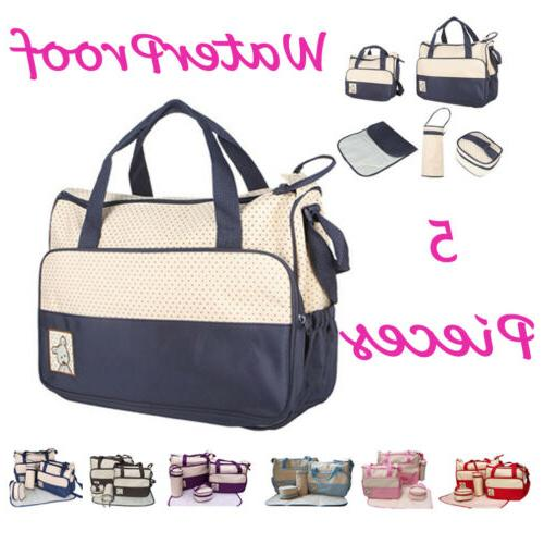 5 pcs mummy mother handbag multi functional