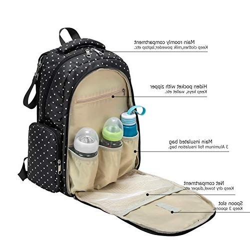 Cateep Travel Diaper Backpack with Changing and Stroller