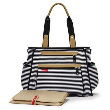 Skip Tote Pad, Central, Black & White Stripe