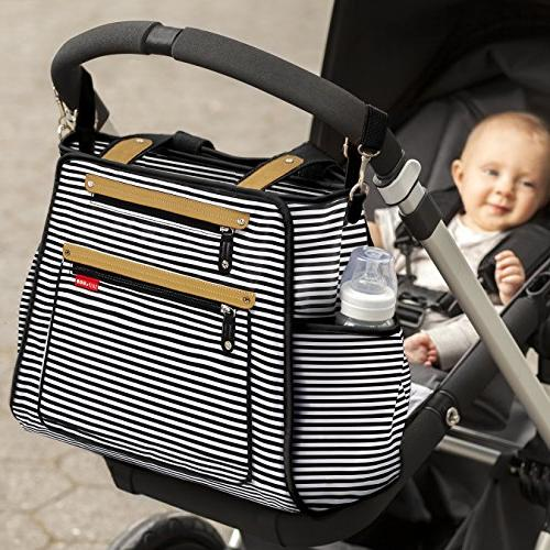 Skip Hop Diaper Tote With Matching Pad, Grand Black