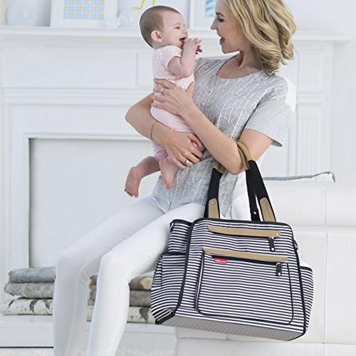 Skip Hop Bag Tote With Pad, Grand & Stripe