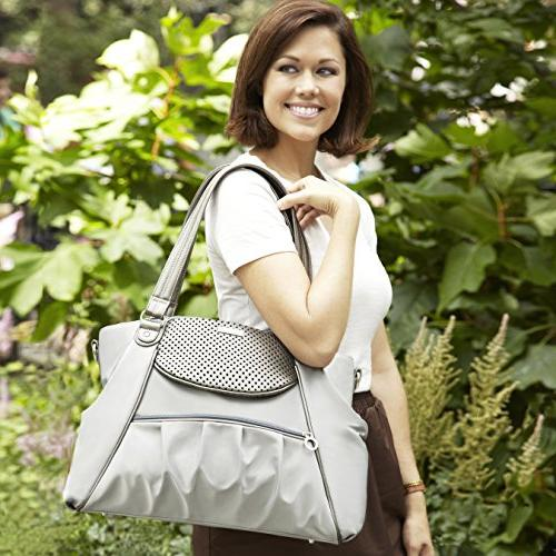 Skip Studio Day-to-Night Diaper Satchel, Pewter