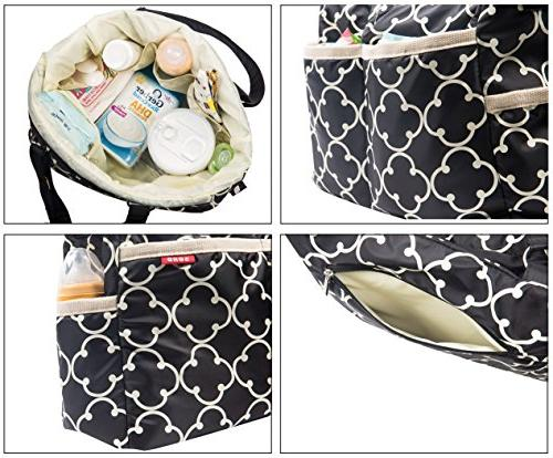 SoHo bag 9 nappy travel for baby baby mom dad insulated unisex large pad straps mesh bag