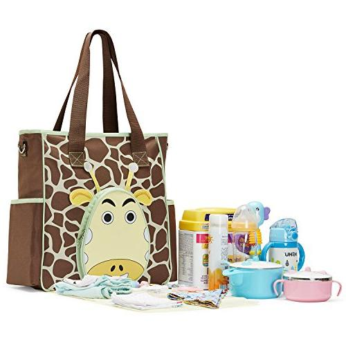 SoHo diaper the nappy tote bag for mom capacity durable includes changing brown