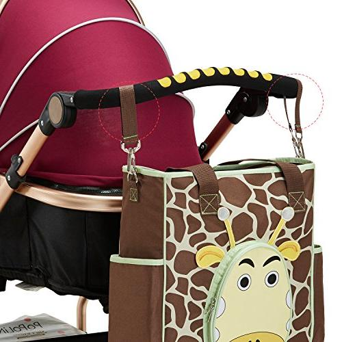SoHo nappy travel for mom dad insulated changing stroller brown