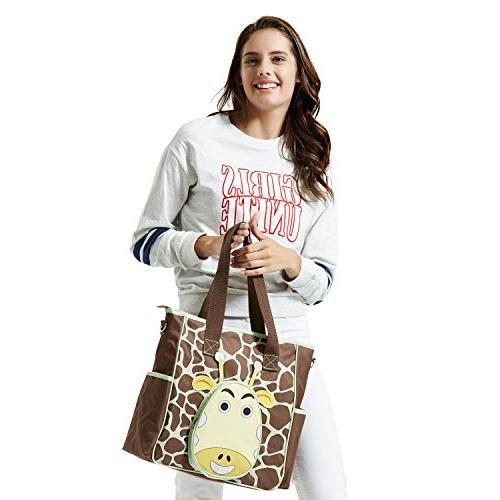 SoHo diaper bag the nappy travel for baby insulated unisex capacity multifuncation changing brown