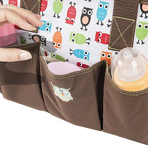 SoHo The 7 for baby mom stylish large includes pad stroller bottle case Brown