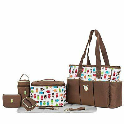 SoHo diaper bag Soren The Owls 7 pieces set nappy tote bag f