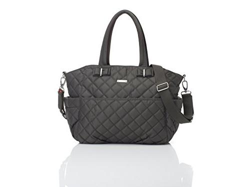 Storksak Bobby Quilted Tote Charcoal