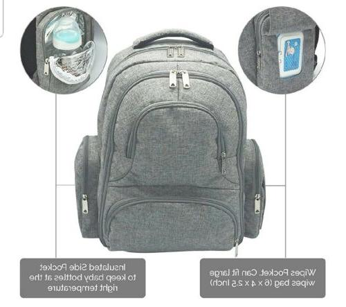 Baby Diaper Bag Backpack Multi-Function Waterproof Insulated