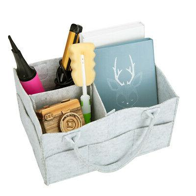 Baby Organizer Caddy Felt Changing Storage Carrier color