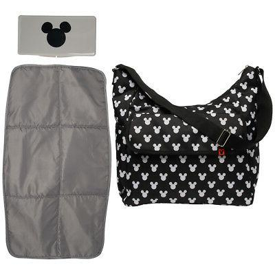 Disney Baby Mickey Mouse Diaper Bag + Changing Mat & Wipes C