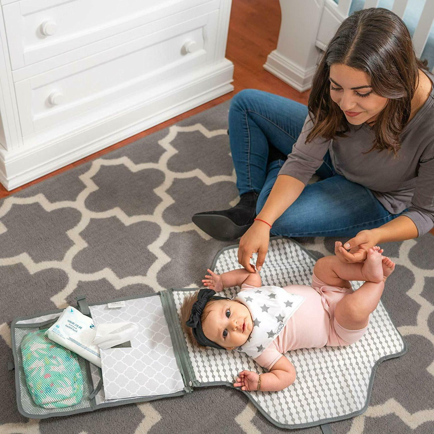 Baby Portable Diaper Changing Mat Station,