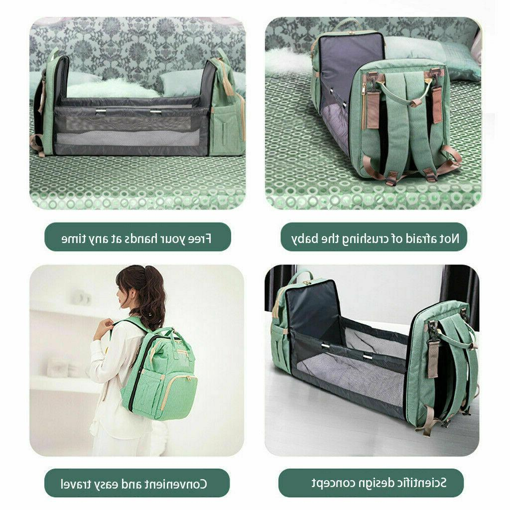 Diaper Backpack With Baby Bed Bag Changing Bassinet Colors