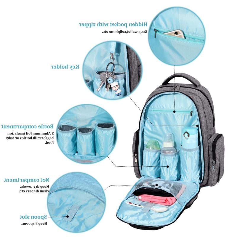Big Diaper Bag Waterproof Travel Backpack with Changing