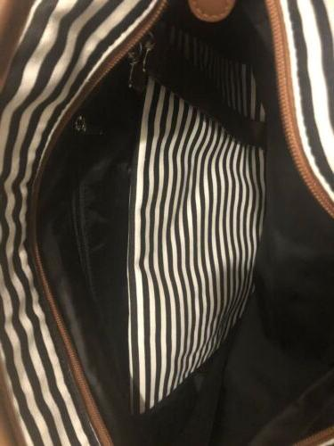 HIP BLACK STRIPED MEDIUM DIAPER BAG