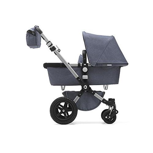 Bugaboo Complete Blue Foldable Mid-Size Stroller with Adjustable Handlebar, and Car Seat