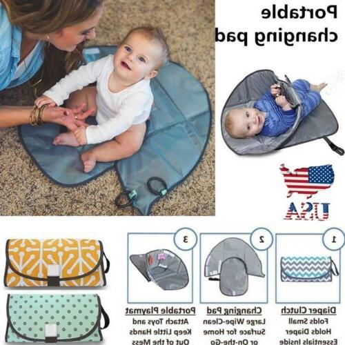 clean hands changing pad portable baby 3in1