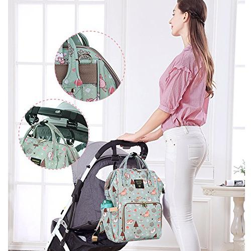 SUNVENO Colorful Diaper Mummy Large Backpack