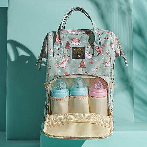 SUNVENO Colorful Bay Nappy Backpack Mummy Maternity Bag Large Insulated