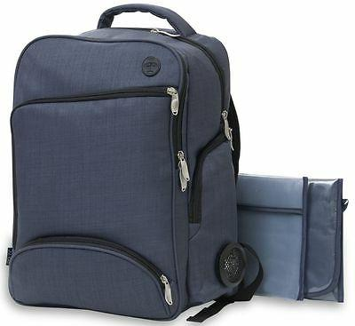 XLR8Connect & Go Baby Diaper Bag Backpack Navy w/ Power Ba