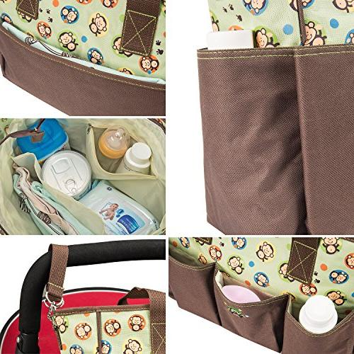 SoHo Monkey nappy tote bag baby dad multifunction includes pad stroller box case