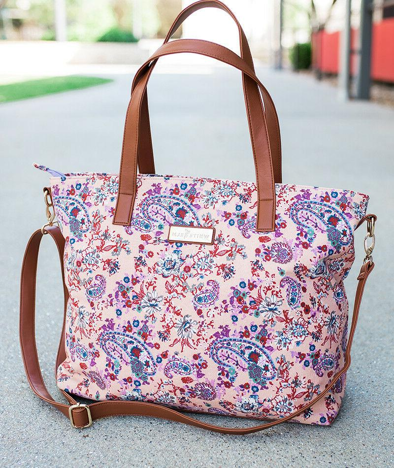 Dahlia Floral Tote Bag by White Elm | Limited Edition | Summ