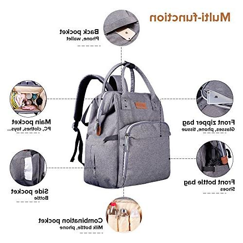 Diaper Backpack with Cooler for Bottle Storage, Pantheon, Bags Girl or Boy, or Dad