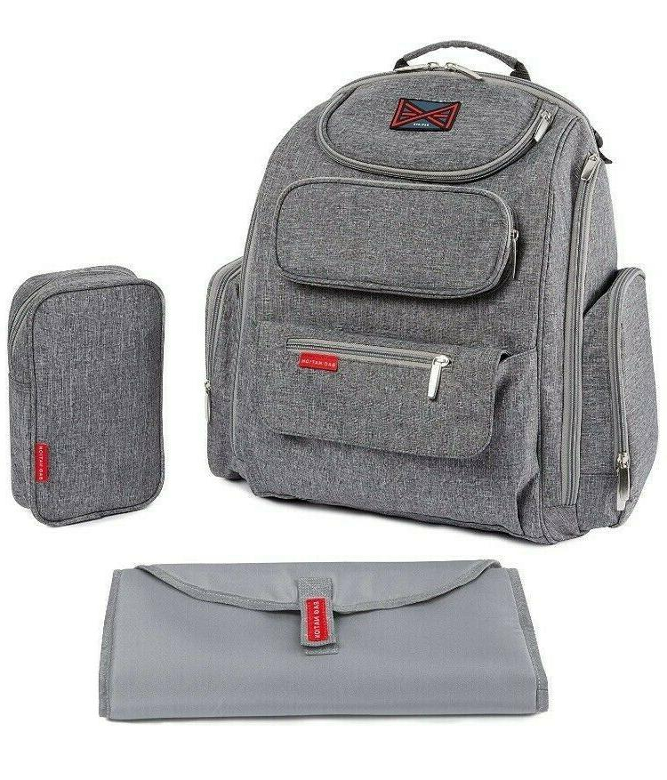 diaper backpack w stroller straps changing pad