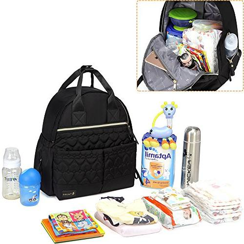 Diaper Bag Large Diaper Stylish Mom Baby Boy and with Changing Pad,