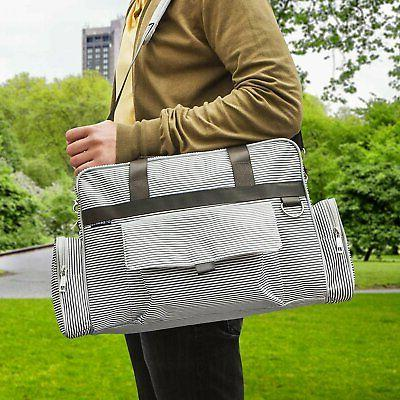 Bags Unisex | Gray Cream Stripe By