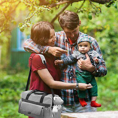 Diaper Bags Unisex | Gray And Stripe By O'beanie