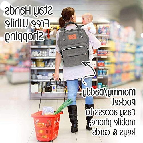 Baby Diaper - Multi-Function Travel Baby for Mom, Dad, Men, - Large Nappy Bags for Girls & Diaper Mat