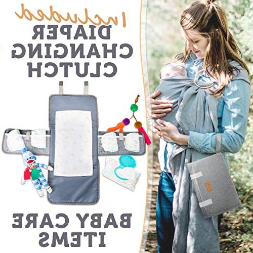 Baby Backpack - Bag for and - Diaper Bags for Women Large Changing Pad - Straps - Gray