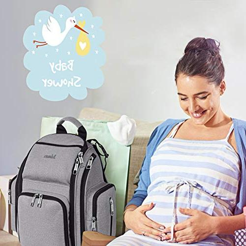 Diaper Bag Multifunction for Mom/Dad Insulated Pockets, Stroller Straps, Durable Maternity Baby Nappy Bags Boys/Girls,