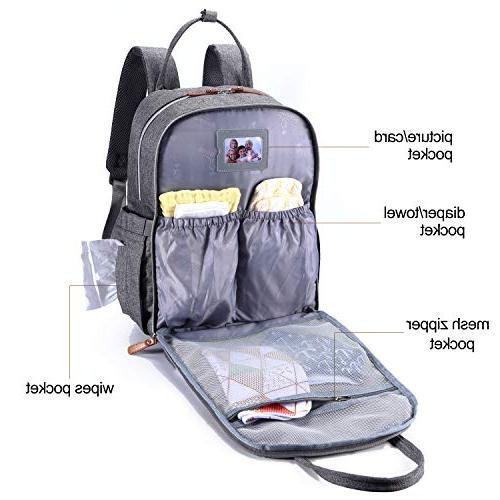 Diaper Backpack, Neutral Back Pack for Mom & Dad, Large Capacity Waterproof Nappy Boys Girls, Multifunction &