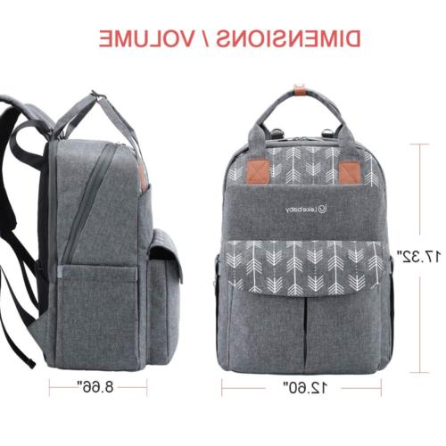 Diaper Mom W/ Multifunction Back Pack Grey