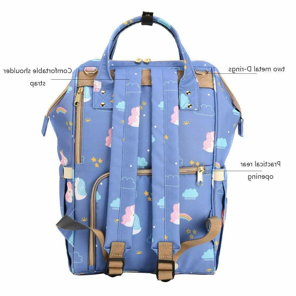 SUNVENO Diaper Bag Insulated Mommy Bag with USB
