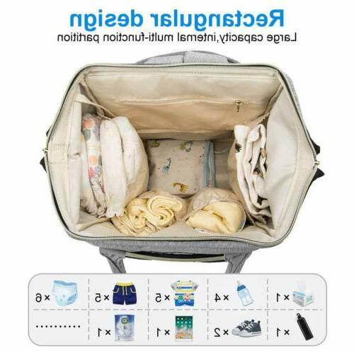 Diaper Large Baby Bag, Travel Back Pack,