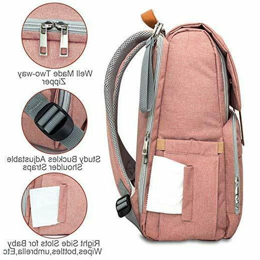 Diaper Bag Multi-Function Travel Backpack Changing Stroller