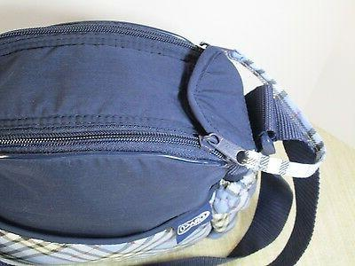GRACO Diaper strap Medium Navy Blue Plaid plastic New