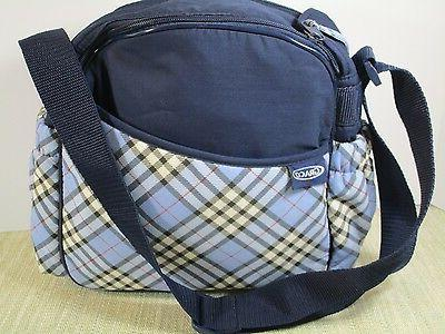 GRACO Diaper strap Medium Navy Plaid interior