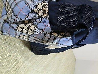 GRACO strap Medium Navy Plaid plastic interior New