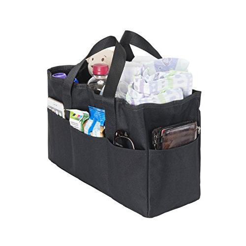 Diaper Bag Insert Organizer For Mom With 5 Outside 6 Inside Storage Pockets Transform Any S Purse Handbag Backpack Or Tote