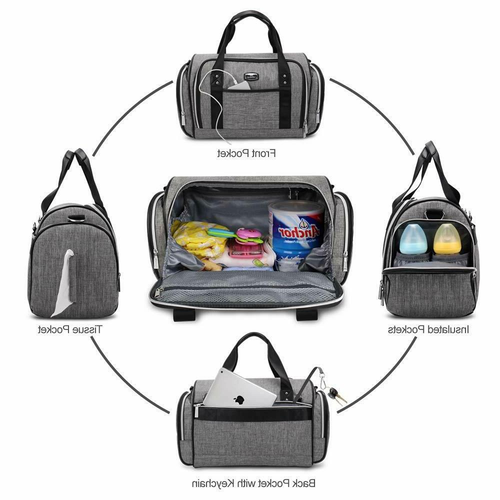 Diaper Tote Large Convertible Travel Bag for Boys