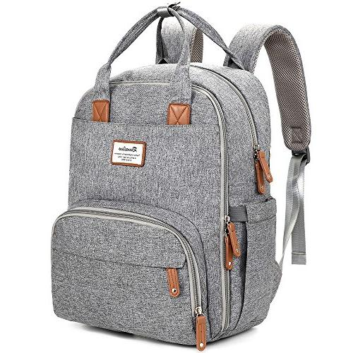 Diaper RUVALINO Changing Bag Backpack, Large .Gray