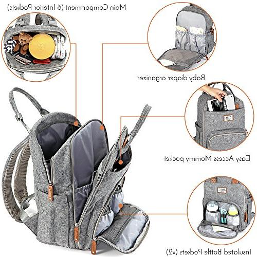 Diaper Multifunction Changing Bag Large .Gray