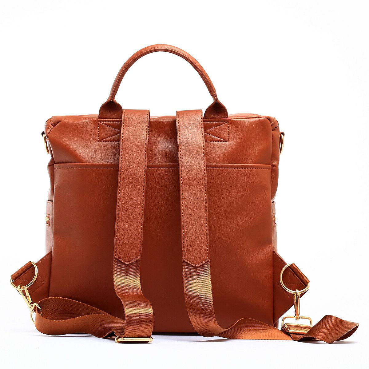 Faux Leather Designer Bag and Convertible