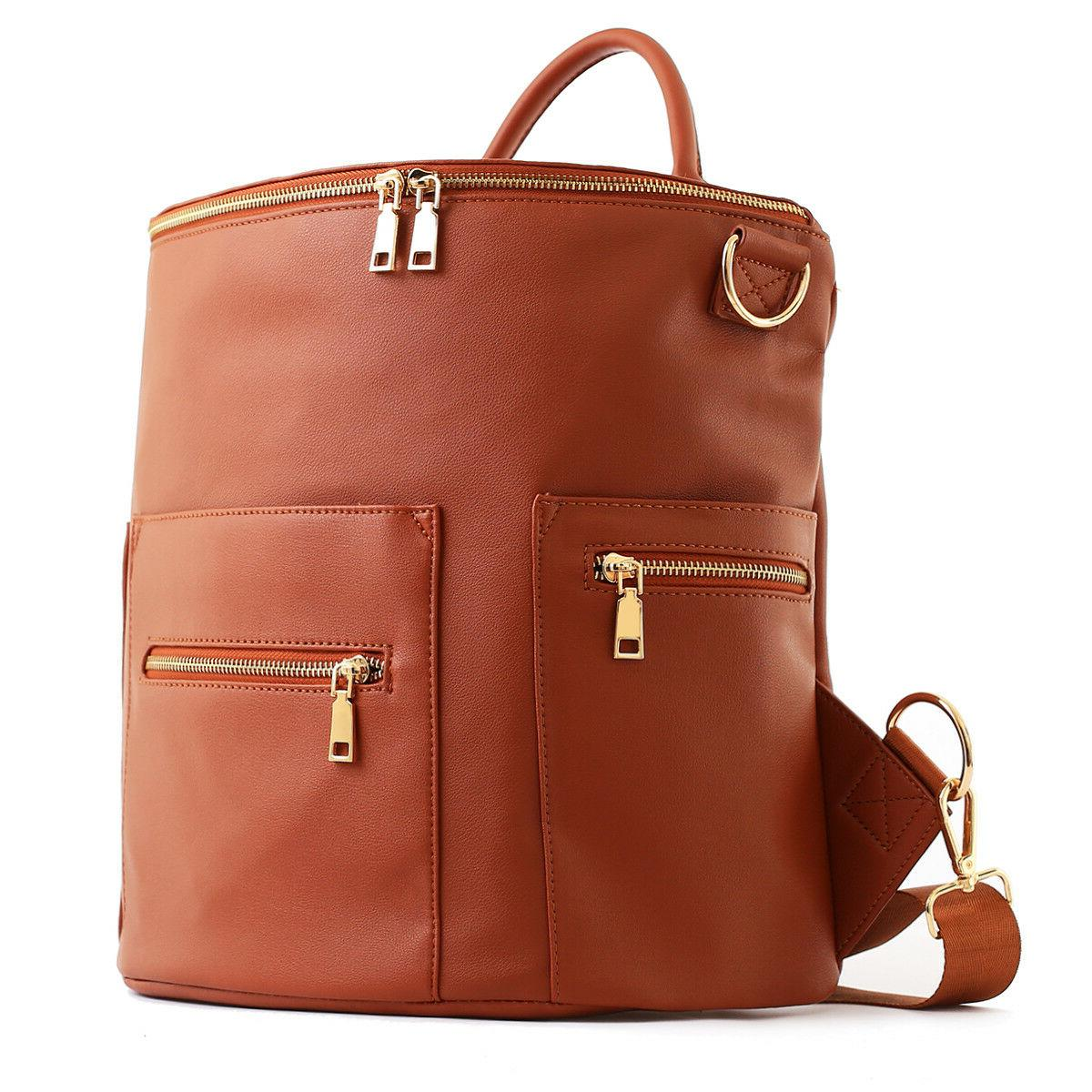Faux Leather Bag with and Convertible